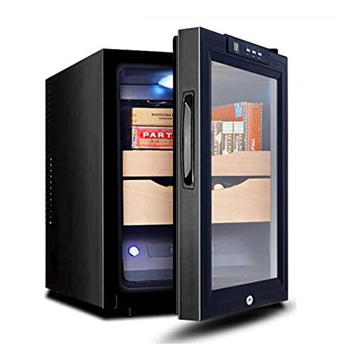 Humidores De Puros Enfriador De Puros Electrónico Hidratación De Temperatura Constante, Puros Eléctrico Enfriador Refrigeración De Doble (Color : Black, Size : 36 * 50 * 48cm)