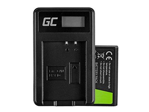 Green Cell LP-E10 LPE10 - Batería para cámara digital Canon EOS 1100D, 1200D, 1300D, EOS Kiss X50, Rebel T3, Kiss, X50, X70, Rebel T3, T5 y T6 (células de iones de litio, 1100 mAh, 7,4 V), color negro