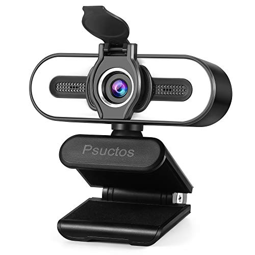 2K HD Webcam with Microphone & Touch Light, PC Web Camera with Privacy Cover, Plug & Play, Best Webcam for Zoom, Skype, YouTube, Facebook, Twitter, MSN, Twitch, Laptop/Desktop Camera