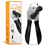 Can Opener, Adoric Stainless Steel Manual Can Opener with Smooth Edge, Heavy Duty Jar Opener with...