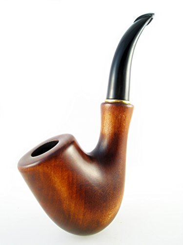 """Fashion Decorated Smoking Pipe """"SHERLOCK HOLMS"""" Carved Pear Root Wood"""