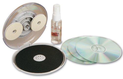 CD/DVD Disc Repair Kit. Hand Crank Carousel Cleans Surface Fixes