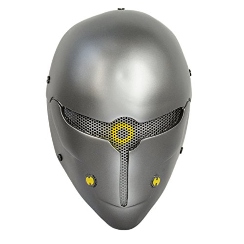 Wire Mesh Gray Full Face Protection Paintball CS Airsoft Sci-fi Robot Mask Halloween Prop Cosplay