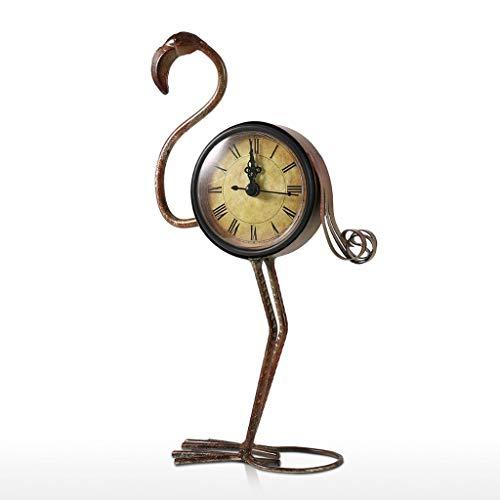 YUTRD ZCJUX Flamenco Retro, Reloj de Hierro Forjado, decoración Hecha a Mano, Vintage, decoración del hogar, Figura tonta, para Mesa