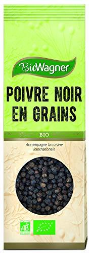 BIOWAGNER Poivre Noir en Grains Bio Sachet 50 g
