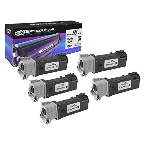 Speedy Inks Compatible Toner Cartridge Replacement for Dell 1320 High Yield (Black, 5-Pack)
