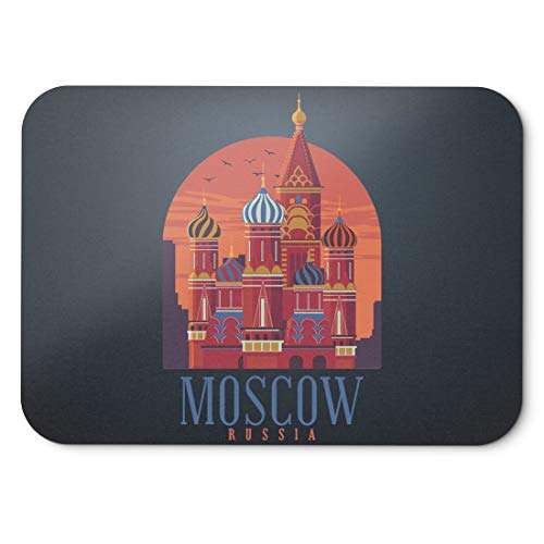 BLAK TEE Moscow Russia City View Mouse Pad 18 x 22 cm in 3 Colours Black