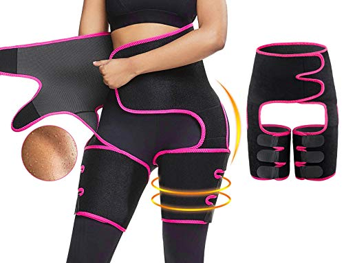PHIONXEI Waist Trainer for Women Weight Loss Everyday Wear Plus Size,Sweat Band Waist Thigh Trainer for Women,High Waist and Thigh Trimmer for Weight Loss,Postpartum Body Trainer Belt Lose Belly Fat
