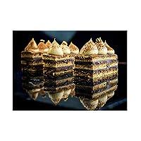 BGGGTD ポスター ホーム装飾プリント絵画食品コーヒー豆ケーキパンチーズ壁アートワークモジュラーキャンバスポスターモダンスタイルレストラン-50x70cmx1フレームなし