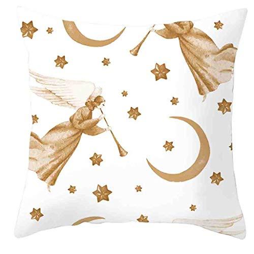 Amhomely® Kissenbezug Kissenhülle Taille Kopfkissenbezug,Frohe Weihnachten Goldfoliendruck Kissenbezug Sofa Taille Throw Kissenbezug für Zuhause und Sofa, Schlafzimmer Dekoration
