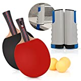 beststar PingPong Set - Includes Ping Pong Net for Any Table, 2 Ping Pong Paddles/Rackets, 3 Ping Pong Balls,...