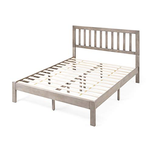 Christopher Knight Home Eunice Acacia Wood Queen Bed Platform, Gray