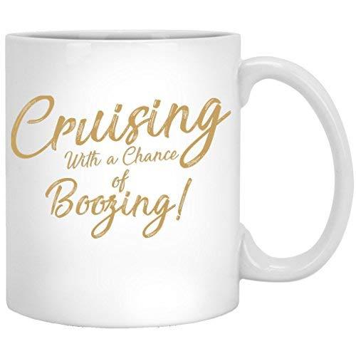 Queen54ferna Booze Cruise Lustige Trinkparty - Kreuzfahrt, Ozean, See, Trinken, Bier, Kaffeetasse, Keramik, 325 ml