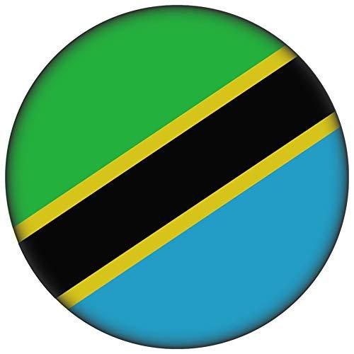 FanShirts4u Button/Badge/Pin - I Love TANSANIA Fahne Flagge (TANSANIA/Flagge)