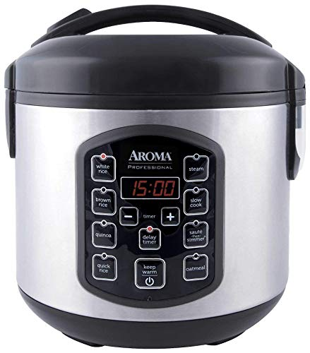 Aroma Housewares ARC-954SBD Rice Cooker, 4-Cup uncooked 2.5 Quart, Professional Version