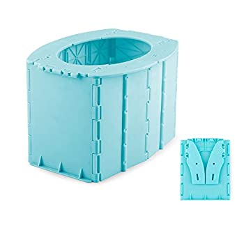 Travel Potty Training Seat for Toddlers Under 2 Years Old Reusable Portable Potty for Long Road Trips Beach Camping Play Field Train Outdoors with 5 Potty Bags  Blue
