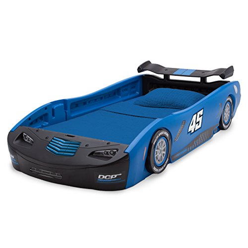 Delta Children Sport Race Car Twin Bed, Blue