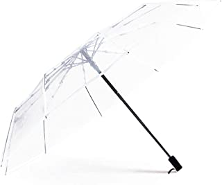 Haihuic Compact Travel Umbrella, Windproof, Clear Reinforced Canopy, Ergonomic Handle, Auto Open/Close, Transparent Automa...