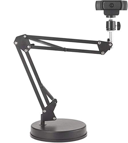 OXENDURE Webcam Halterung 22-Zoll-Scherenarmständer mit Aufhängung und Sockel,für Logitech Webcam C925e C922x C922 C930e C930 C920 C615, GoPro Hero 8/7/6/5, Arlo Ultra/Pro/Pro 2 / Pro 3