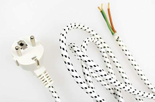Textilkabel Stoffkabel Stecker z.B. für Bügeleisen von Philips Siemens Tefal AEG