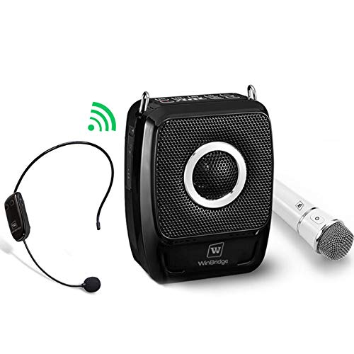 W WINBRIDGE Portable PA System, Bluetooth Speaker with Microphone, 2 Mic and Speaker...
