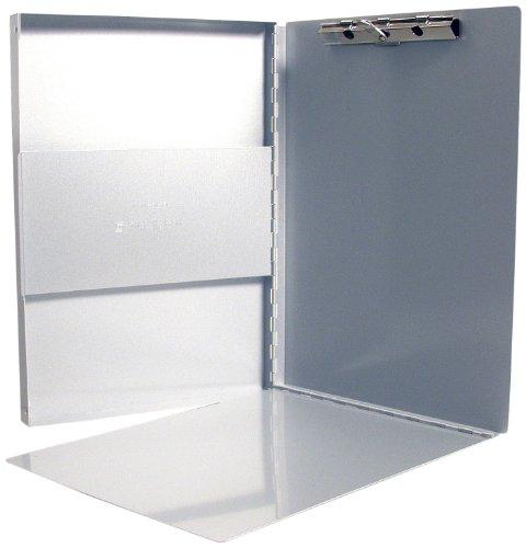 Läufer 30517 Snapak, Aluminium Klemmbrett auf Formularkassette, seitlich öffnend, mit Fach und Zwischenlage, Klemme im Innenteil, silber, für DIN A4