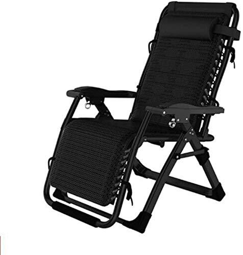 W-YYXMB Sommergeschenk Sun Lounger Recliner Chair Relaxer mit Getränkehalter | Klappbare Gartenstühle mit gepolstertem Kissen und Fußstütze Sessel für Wohnzimmer Lazy Boy Max.150kg