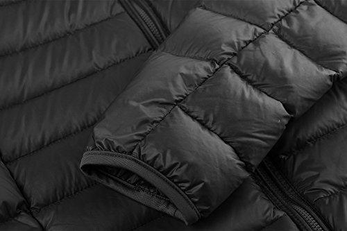 Wantdo Women's Hooded Packable Down Coat-Black