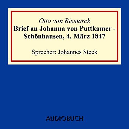 Brief an Johanna von Puttkamer Titelbild