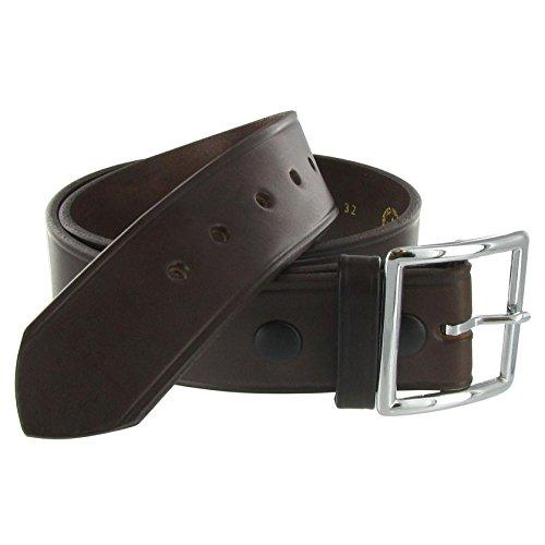 Boston Leather 1.75in. Leather Garrison Belt   32 Brown