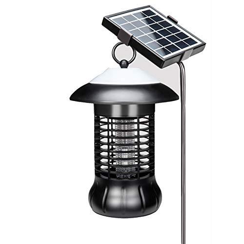 Q&Z Tueur De Moustique Solaire CaractéRistiques avec éClairage ExtéRieur Et Lampes Anti-Moustiques ImperméAble LED Lampe Anti-Moustique UV Convient Aux Pelouses De Jardin