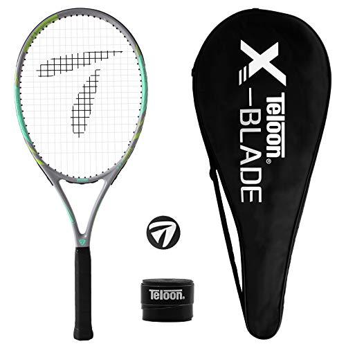 Teloon Recreational Adult Tennis Rackets27 inch Tennis Racquet for Men and Women College Students Beginner Tennis Racket V8Gray Green