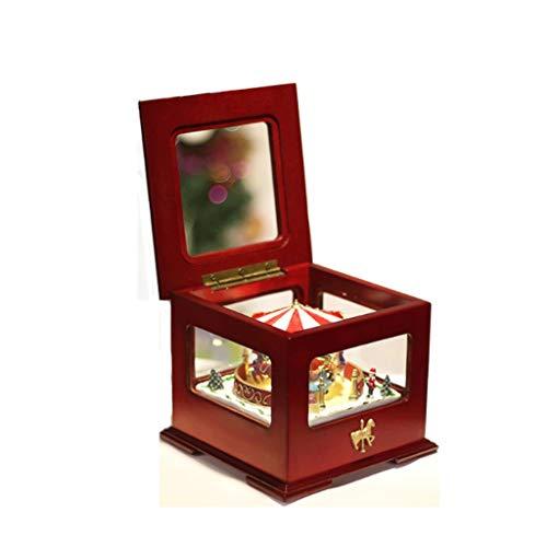 xiaodou Caja de música Color de Navidad Retro Caja de música de la Vuelta del Tren Caja de música Juego melodía Hermosa Caja de música Caja música (Color : Spirited Away)