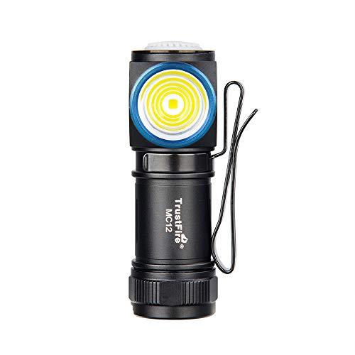 TrustFire MC12 Mini Led Linterna 1000 lúmenes brillante con batería de 16340 y USB magnético recargable
