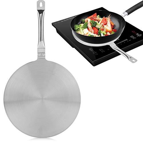 JIFNCR Induktionsherd Wärmeleitungsplatte Kochplatte Kühler Wärmediffusor Induktionsinduktionskocher Adapter für magnetische Wärmeleitung Küchenzubehör, 40 * 23,5 cm