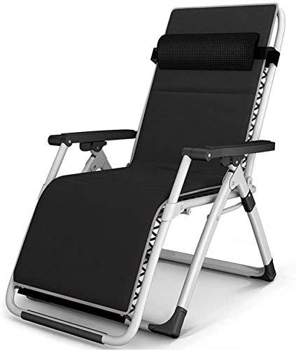ADHW - Sillón reclinable, reclinable, sillas largas reclinables para balcón, tumbona de jardín ligera