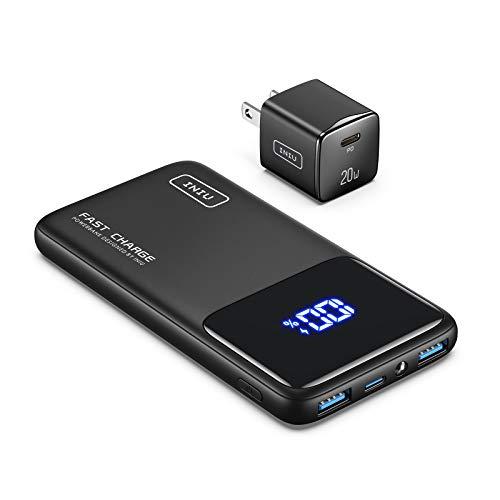 ?Bundle-2 Items? INIU 20W PD3.0 Fast Charge USB Wall Charger + INIU 10500mAh Fast Charging Portable Charger
