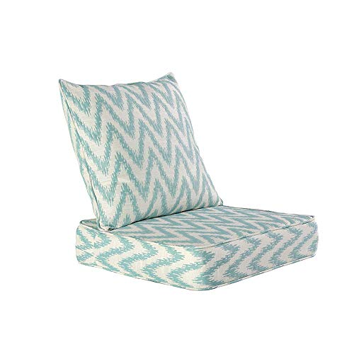 HonTop Indoor   Outdoor Seat Patio Cushion,Outdoor Chair Cushion Set,Outdoor Cushions for Patio Furniture Water Repellent Fabric Cushions