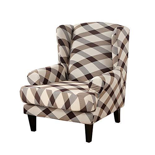 Facai - Funda de sillón con orejas, elástica, funda de sillón de sofá, lavable, funda de cojín independiente #2