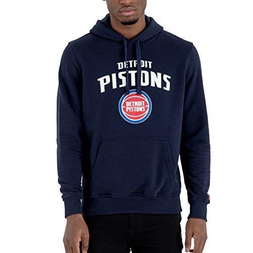 New Era Detroit Pistons - Felpa con Cappuccio da Uomo, Uomo, Felpa con Cappuccio da Uomo., 11546177, Blu, XL