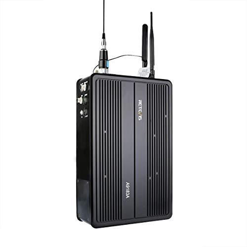 Retetvis RT93 Walkie Talkie Repeater digitaal/analoog-DMR-Dual Time-slot 25 W 1024 kanalen IP-netwerk draagbare amateurradio repeater (zwart)