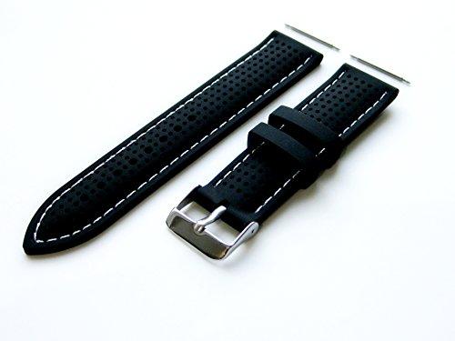 22mm - 4 Stück Gummi Ersatzband Armband Set für Luxus, Sport und Beiläufige Armbanduhren (B-MHLS)