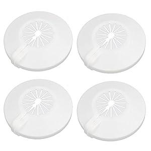 Aexit Universal 16mm-25mm Radiador de plástico cubierta de la tubería de agua (model: V3784IIVI-1483WA) Collar blanco…