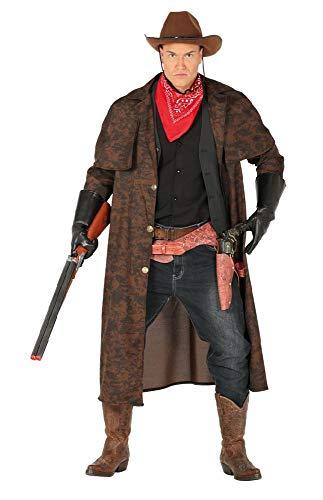Herren Cowboy Mantel mit Halstuch Gr. L Staubmantel Bandana Kostüm Western Wilder Westen Old Shatterhand Wildwest Prärie