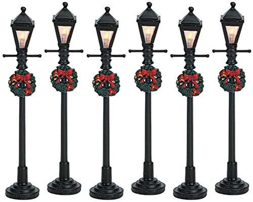 Lemax Christmas - Gas Lantern Street Lamp Set of 6 B/O (4.5V) (64499)