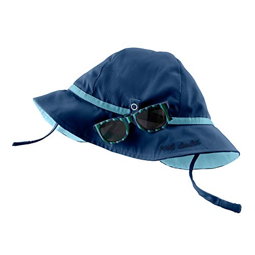 Mud Pie Baby Boys' Sun HAT and Glasses, Navy, 6-18 Months