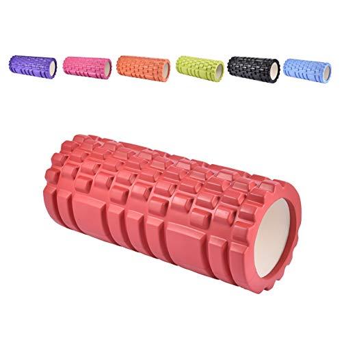 bobo banana Faszienrolle - Schaumstoffrolle Fitness Sport Massagerolle Foam Roller für Yoga Sport Fitness Plantarfasziitis und Reflexzonenmassage (35 cm, Rot)
