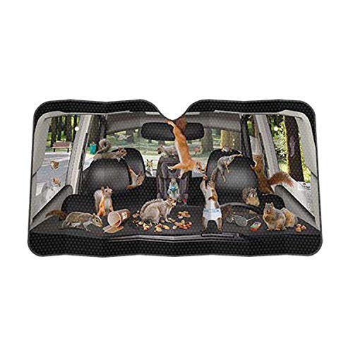 Archie McPhee - Accoutrements Auto Sunshade, Car Full Of Squirrels,One Size