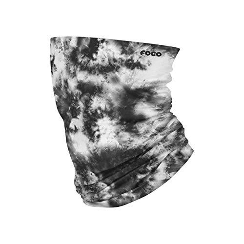 FOCO Black and White Tie Dye Gaiter Scarf, Large (GEN Gaiter)