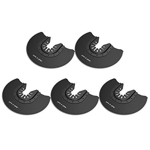 5PCS Cuchillas Oscilantes Multiherramienta Hojas de sierra Oscilante para Tamaño de Madera Cuchillas Oscilantes paraDremel Multimaster-Bosch (5pcs Semicírculo)